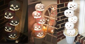 DIY Dollar Tree Jack-O-Lantern Topiary