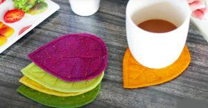 DIY Fall Fabric Coasters