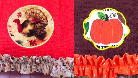 DIY Fall Kitchen Towel | DIY Joy Projects and Crafts Ideas