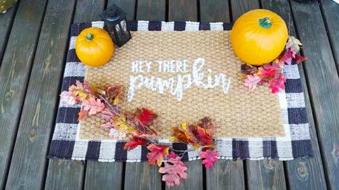 DIY Fall Pumpkin Doormat   DIY Joy Projects and Crafts Ideas
