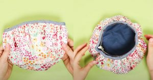 DIY Gathered Pouch