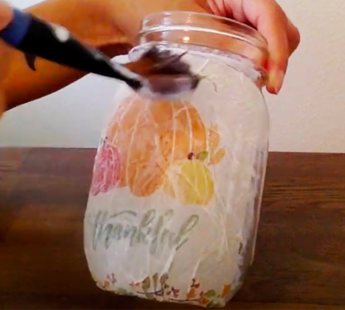 How To Make Fall Candle Holders - Mason Jar Projects - Easy and Simple Mason Jars