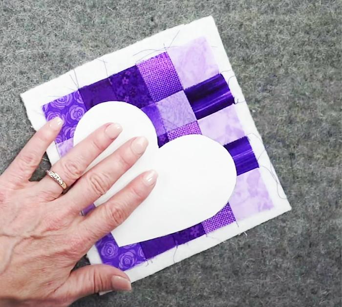 Patchwork Heart Prayer Quilt - Shabby Fabrics