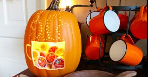 DIY Pumpkin K-cup Holder