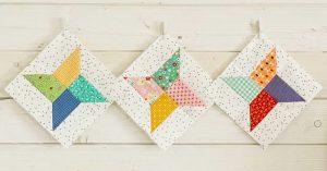 DIY Scrappy Star Block Quilt