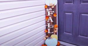 Dollar Tree DIY Fall Wood Sign Porch Decor