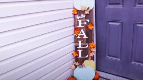 Dollar Tree DIY Fall Wood Sign Porch Decor | DIY Joy Projects and Crafts Ideas