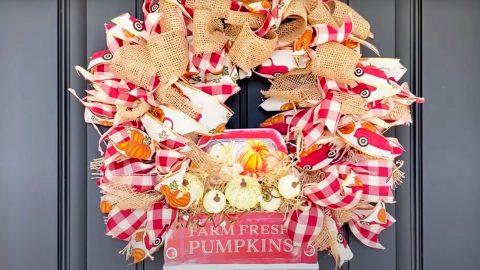 Dollar Tree DIY Fall Wreath   DIY Joy Projects and Crafts Ideas