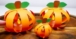 How To Make A Pumpkin With Paper