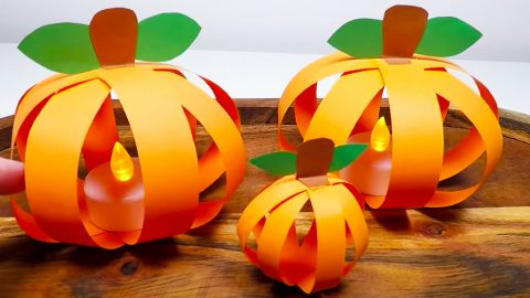 How To Make A Pumpkin With Paper | DIY Joy Projects and Crafts Ideas