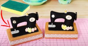 How To Sew A Sewing Machine Pin Cushion Using A Sponge