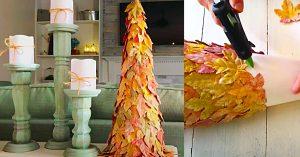 Dollar Tree Fall Leaf Tree Decor