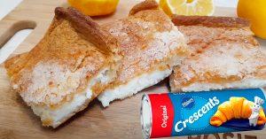 Lemon Crescent Cream Cheese Bar Recipe