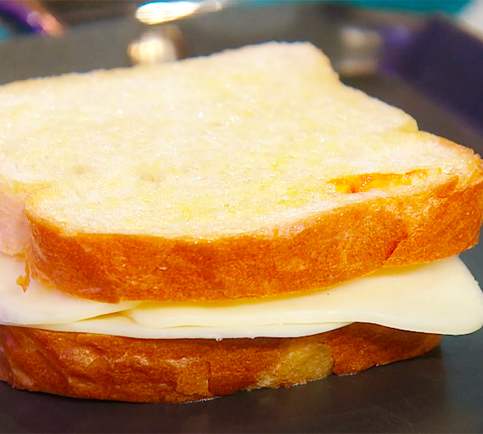 Baste Hot Honey On One Side Of White Bread To Make Grilled Cheese - Rachael Ray's Recipes - Italian Recipes