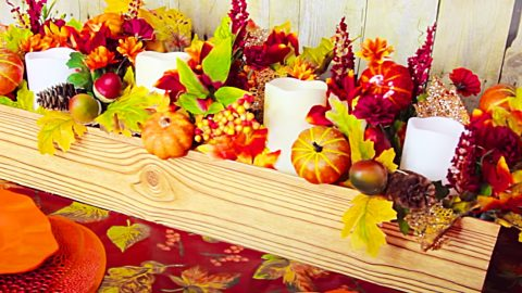 Dollar Tree DIY Thanksgiving/ Fall Centerpiece | DIY Joy Projects and Crafts Ideas