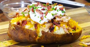 Loaded Restaurant-Style Baked Potato Recipe