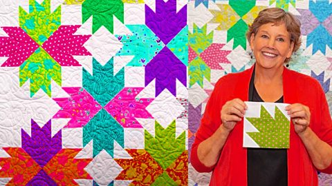 Make A Bear Paw Point Quilt With Jenny Doan | DIY Joy Projects and Crafts Ideas
