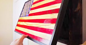 DIY Wooden American Flag With An Inside Compartment