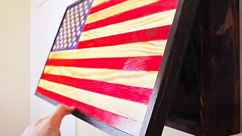 DIY Wooden American Flag With An Inside Compartment | DIY Joy Projects and Crafts Ideas