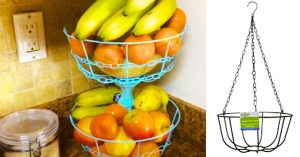 How To Make A Dollar Tree Metal Fruit Basket Stand