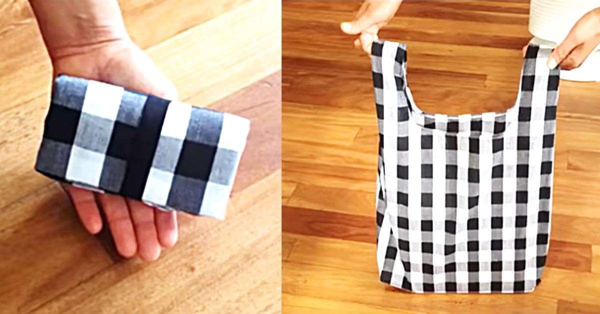 How To Make A Reusable Fabric Grocery Bag - Easy Sewing Ideas - Tote Bag Ideas