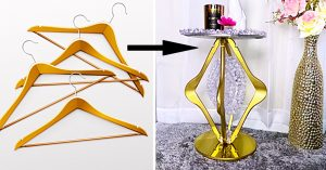 How To Make Side Tables From Coat Hangers