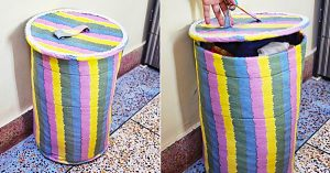 How To Make A Fabric Laundry Basket