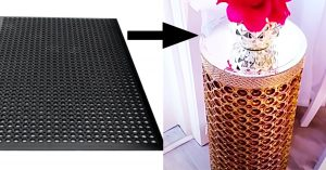 How To Make DIY Side Tables From Rubber Mats