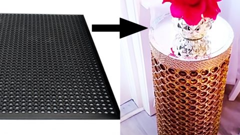 How To Make DIY Side Tables From Rubber Mats | DIY Joy Projects and Crafts Ideas