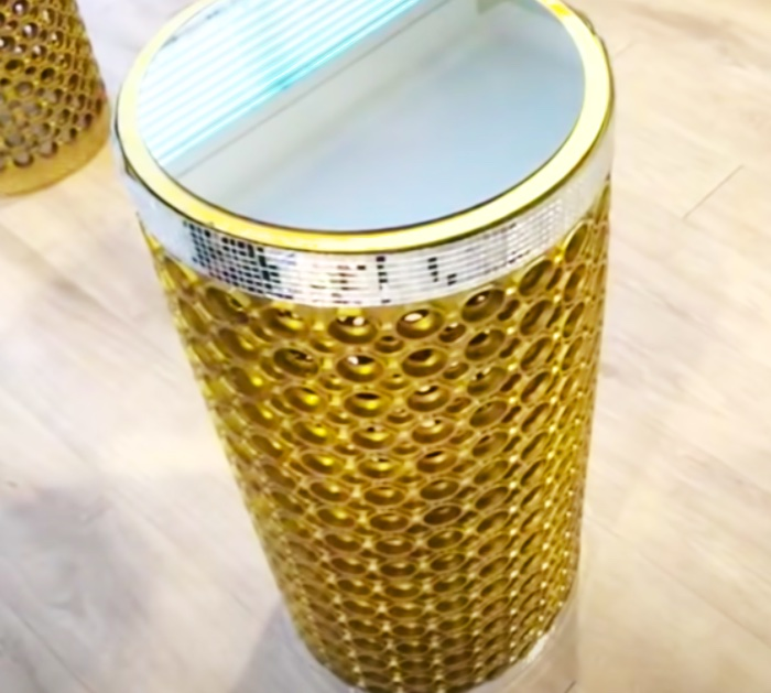 DIY Side Tables - Glam Furniture - How To Make An End Table