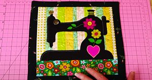How To Make A Sewing Machine Mini Quilt With Free Pattern