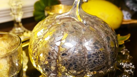 How To Make Mosaic Mirrored Pumpkins | DIY Joy Projects and Crafts Ideas