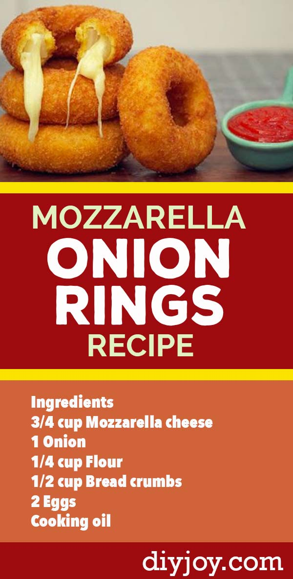 Onion Rings Recipe With Cheese - How to Make Mozzarella Stuffed Onion Rings - Country Cooking and Homestyle Southern Recipes - Side Dishes for Dinner