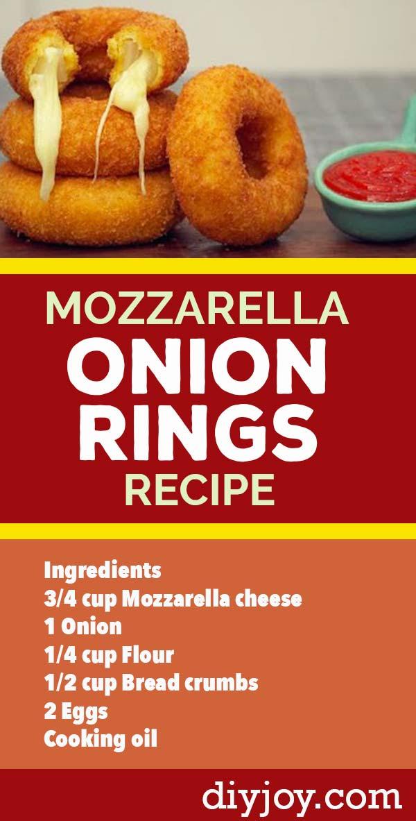 Mozzarella Onion Rings Recipe