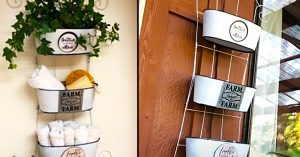 Dollar Tree DIY Farmhouse Hanging Organizer