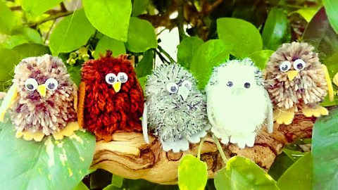 How To Make Pom-Pom Baby Owls | DIY Joy Projects and Crafts Ideas