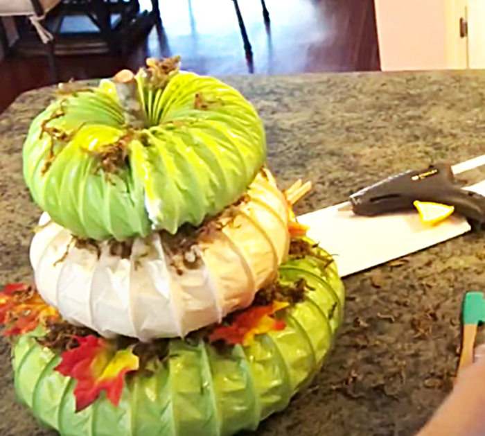 DIY Fall Pumpkin Crafts - Fall DEcor Ideas - Dryer Duct DIY