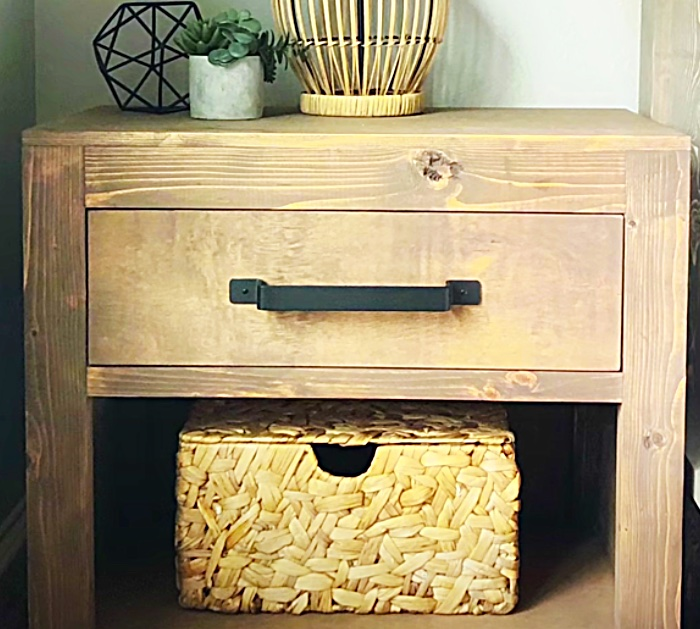 Diy Rustic Modern Nightstand With Free Plans