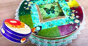 How To Turn A Cookie Tin Into A Sewing Box