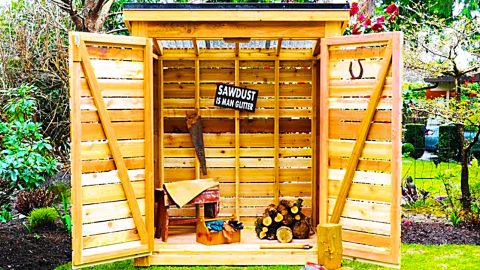 How To Build A Cedar Storage Shed | DIY Joy Projects and Crafts Ideas