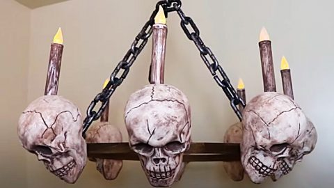How To Make A Dollar Tree Skull Chandelier | DIY Joy Projects and Crafts Ideas