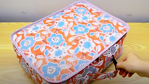 How To Make A Small Fabric Suitcase   DIY Joy Projects and Crafts Ideas