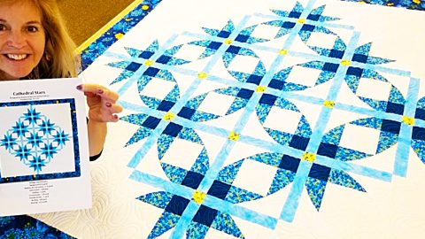 Cathedral Stars Quilt With Free Pattern | DIY Joy Projects and Crafts Ideas