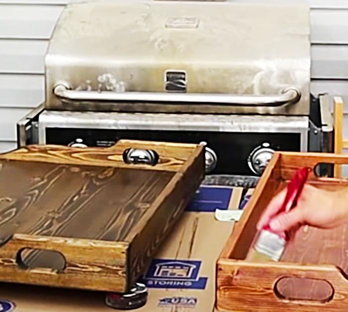How To Stain Wood - Minwax Stain Ideas - Farmhouse Kitchen Ideas