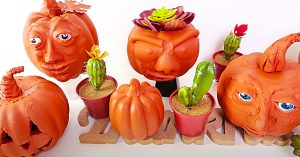 Dollar Tree Faux Terracotta Pumpkins