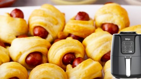 Air Fryer Mini Crescent Dogs Recipe | DIY Joy Projects and Crafts Ideas