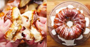 Apple Fritter Stuffed Pull Apart Bread Recipe