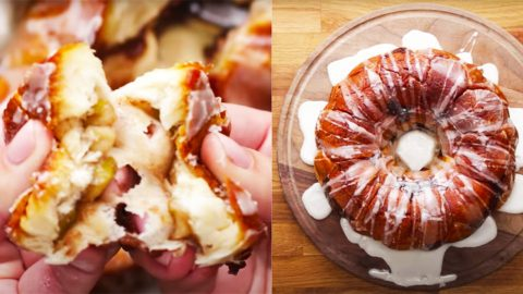 Apple Fritter Stuffed Pull Apart Bread Recipe | DIY Joy Projects and Crafts Ideas
