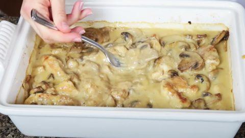 Chicken And Mushroom Casserole Recipe   DIY Joy Projects and Crafts Ideas