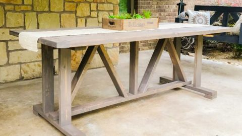 $60 DIY Outdoor Dining Table   DIY Joy Projects and Crafts Ideas